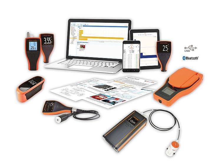 Software ElcoMaster je kompatiblní s více přístroji Elcometer