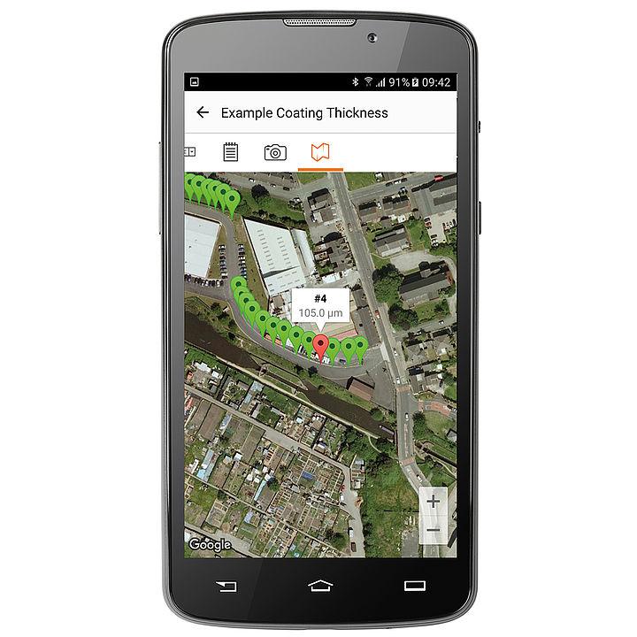 GPS zobrazení
